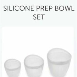 Pampered chef silicone prep bowls set of three